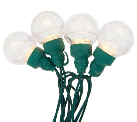 """As Is"" Bethlehem Lights 10ct Orb Plug-In Light Strand"