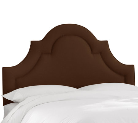 Queen Arched Border Headboard in Linen by Skyline Furniture