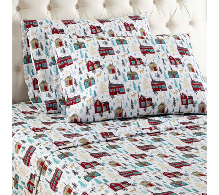 Shavel Micro Flannel(R) Printed Queen Sheet Set