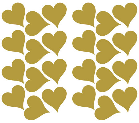 RoomMates Goldtone Heart Peel & Stick Wall Decals