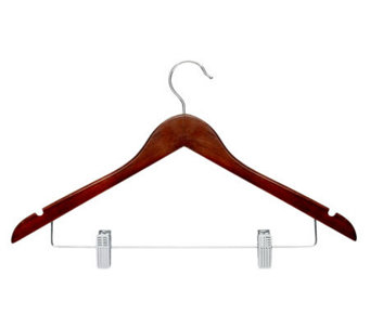 Honey-Can-Do 12-Pack Cherry Finish Wood Suit Hangers - H356662