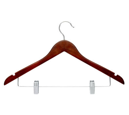 Honey-Can-Do 12-Pack Cherry Finish Wood Suit Hangers