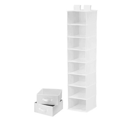 Honey-Can-Do Combo Drawer & Shelf Hanging Organizer - White
