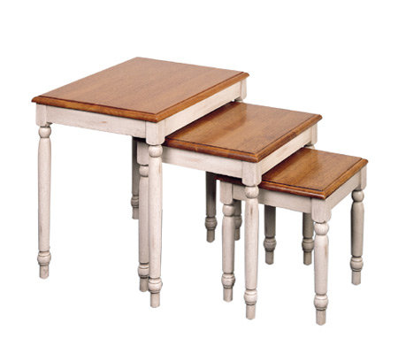 Country Cottage Solid Wood Nesting Table Set byOffice Star