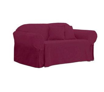 Sure Fit Cotton Duck Love Seat Slipcover - H138963