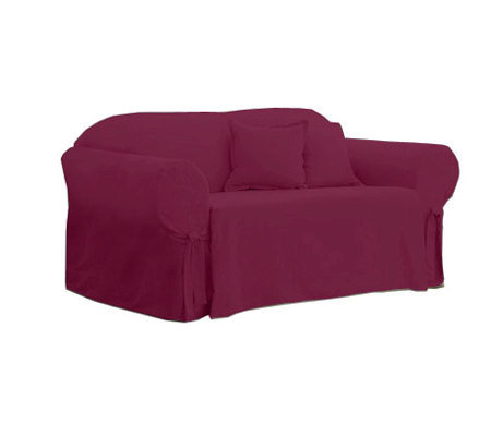 Sure Fit Cotton Duck Love Seat Slipcover