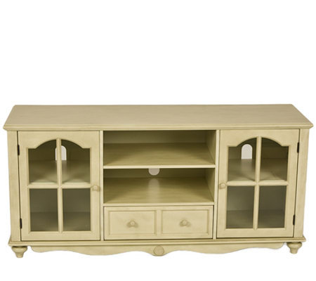 Bristol Antiqued White Media/TV Stand