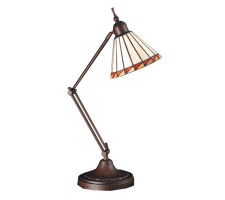 Tiffany-Style Prairie Mission Adjustable Desk Lamp