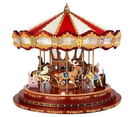 Mr. Christmas 2012 Diamond Jubilee Musical Carousel - Page 1 — QVC.com