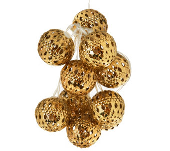 ED On Air 8' Punched Metal Sphere Light Strand by Ellen DeGeneres - H206263