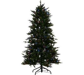 """As Is"" Santa's Best 7.5' Grand Fraser Fir Tree w/ EZ Power & 8 Light Functions - H208163"