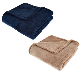 "Berkshire Set of 2 50""x70"" ShearLoft Throws - H209063"