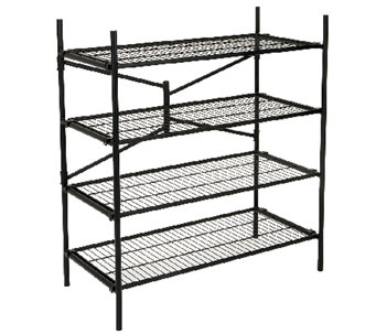Cosco 4-Shelf Folding Instant Storage Unit - Black - H282663