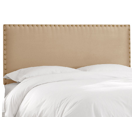 Nail Button Border Premier Fabric Headboard - King