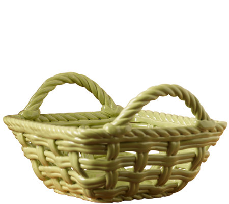 "Tabletops Gallery 9"" x 5-5/8"" Square Basket"