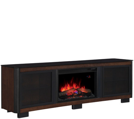 Manhattan Media Mantel Electric Fireplace w/No-Tool Assembly