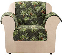 Sure Fit Holiday Plush Chair Furniture Cover - H292963