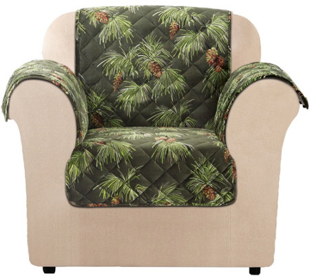 Sure Fit Holiday Plush Chair Furniture Cover