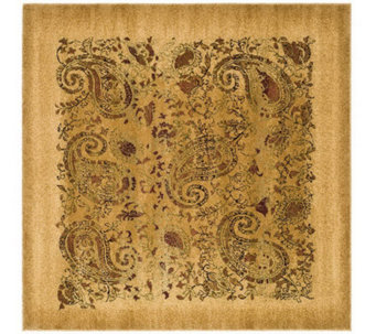 Lyndhurst 8' x 8' Paisley Life Power Loomed Square Rug - H349063