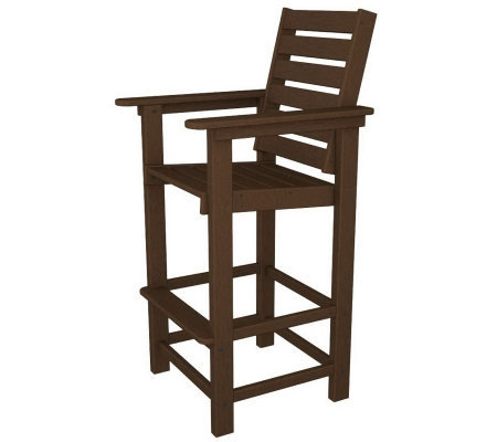 Polywood Captain Bar Chair Qvc Com