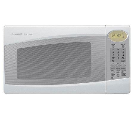 Sharp R308jw 1100 Watt Mid Size Microwave White