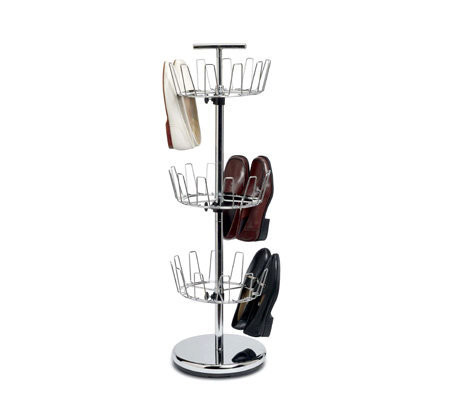 Household Essentials 3-Tier Revolving Shoe Tree- Chrome