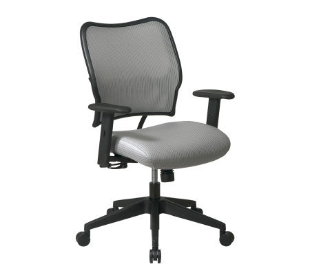 Office Star Gray Deluxe Chair with VeraFlex