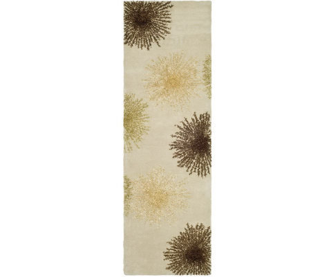 "Soho 2'6"" x 10' Abstract Handtufted Wool/Viscose Blend Runner"