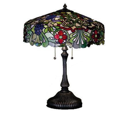 Tiffany Style 24H Italian Renaissance Table Lamp QVC