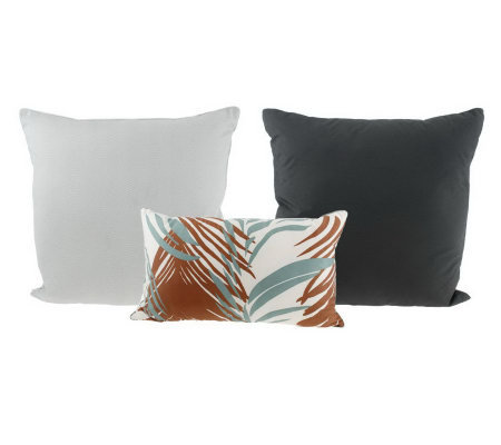 Qvc Decorative Pillows : Thom Filicia Set of Three Sunrise Plaid Decorative Pillows - Page 1 ? QVC.com