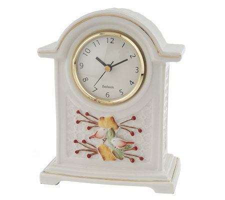 Belleek Autumn Clock with Gold Trim