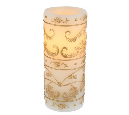 Candle Impressions Gold Leaf Flameless Candle w/ Timer