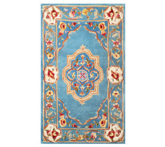 Royal Palace Elegant Medallion 3' x 5' Wool Rug - H199864