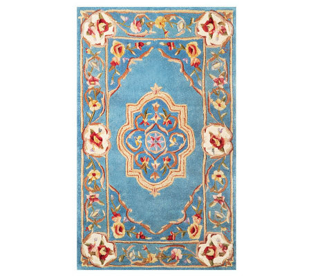 Royal Palace Elegant Medallion 3' x 5' Wool Rug