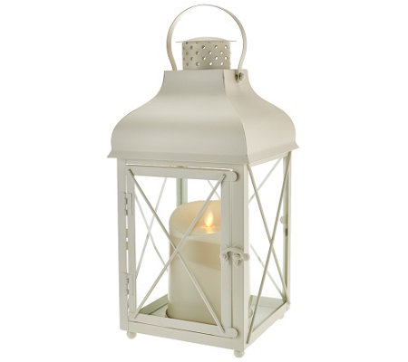 "Luminara 15"" Churchill Lantern with Flameless Candle w/ Timer"