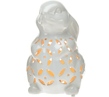 Plug-In Illuminated Ceramic Animal by Valerie