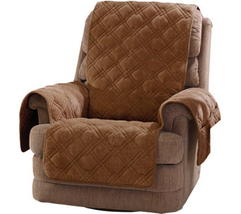Sure Fit Plush Comfort Recliner Furniture Cover w/Non-Skid Back - H208764