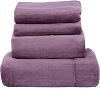 Berkshire Blanket Velvet Soft Cozy King Sheet Set - H212664