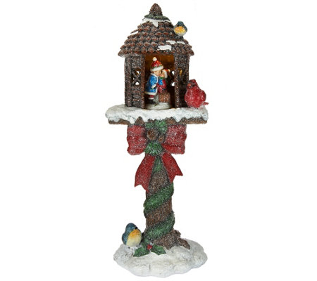 """As Is"" Kringle Express 20"" Illum. Holiday Glittered Treehouse"