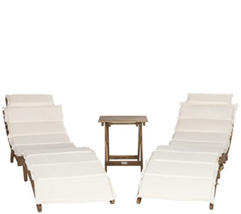 image outdoor furniture chaise. Safavieh Pacifica 3-Piece Outdoor Lounge Set - H288864 Image Furniture Chaise