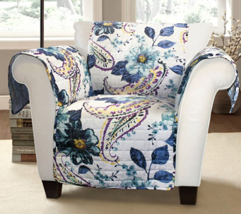 Floral Paisley Chair Furniture Protector by Lush Decor - H290164