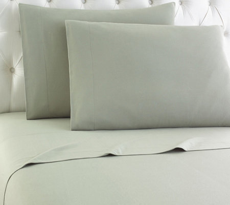 Shavel Micro Flannel(R) Solid Color Queen Sheet Set
