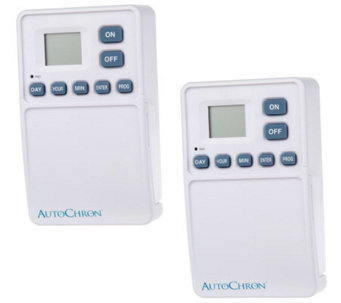 AutoChron Set of 2 Wireless Wall Switch Timers - H349964