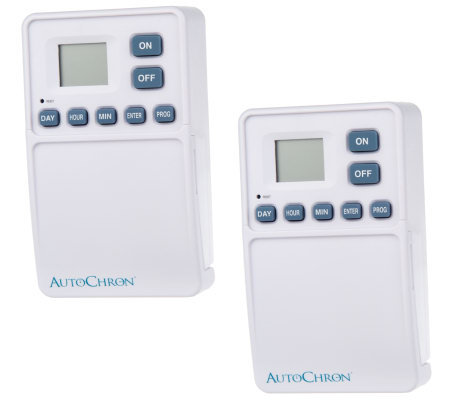 AutoChron Set of 2 Wireless Wall Switch Timers