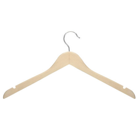 Honey-Can-Do 20-Pack Maple Finish Wood Shirt/Dress Hangers