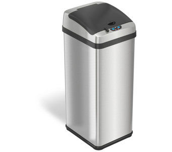 iTouchless 13-Gal Rectangular Extra-Wide Touchless Trash Can - H357064