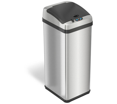 iTouchless 13-Gal Rectangular Extra-Wide Touchless Trash Can