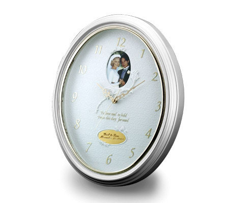 Things Remembered Personalized Rose Wedding Wall Clock
