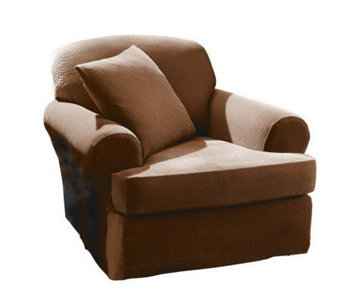 Sure Fit Stretch Pique Separate-Seat T-CushionChair Slipcover - H145365