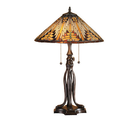 "Tiffany-Style 25-1/2"" Southwest Table Lamp"